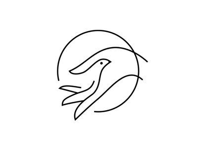 Dove/ Hand Mark logo icon bird dove peace hand