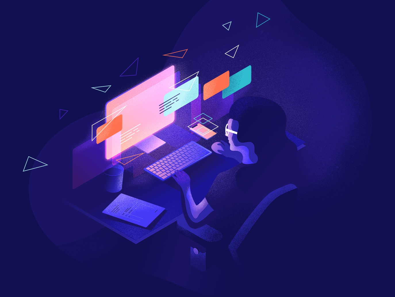 🦉Night Owl🦉 ux ui design vector uidesign illustration illustrator