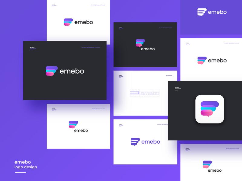 Emebo- logo design ux app branding ui design icon logo