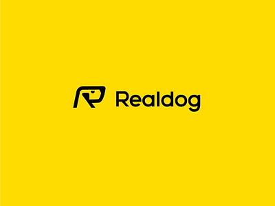 🐶REALdog dog logo branding