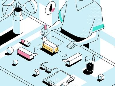 Packlane Illustration 4 app ux vector design ui illustration
