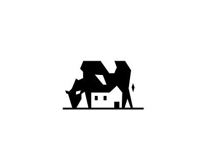 Milkhouse icon negative space milk cow logo
