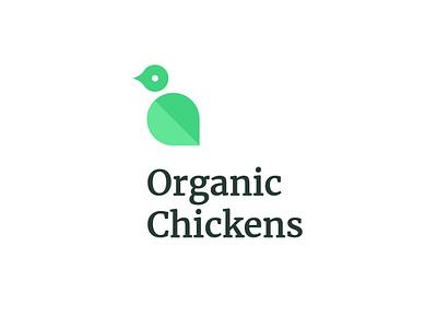 Organic Chickens branding illustration design logo