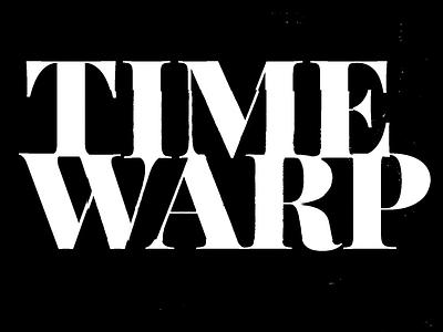 Time Warp motion design motion typography letter font animation design lettering