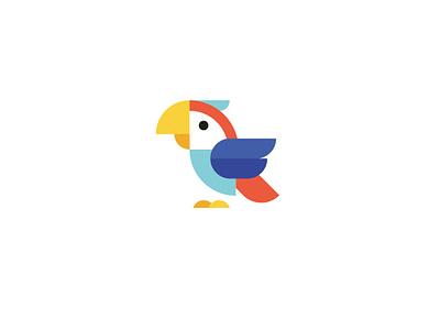 Parrot bird parrot branding vector icon design logo