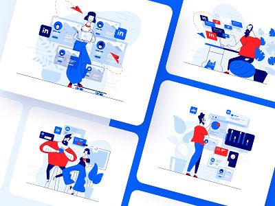 Meetfelix.com illustrations set 3 designer designs illustration art illustrations ui vector design illustration