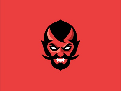 Devil hell devil icon vector design illustration logo