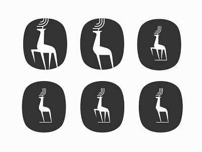 deer branding modernism modern logo logo deer