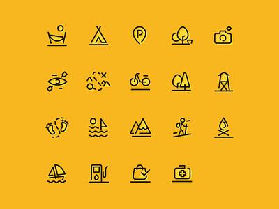 Przygoda Icons Set uidesign ui  ux uiux ui icons pack iconset icons set icons icon