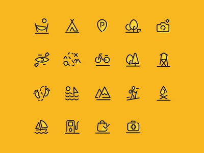 Przygoda Icons Set uidesign ui  ux uiux ui icons pack iconset icons set icons icon