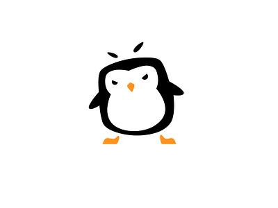 Penguin Bad Ass penguin icon vector design illustration logo