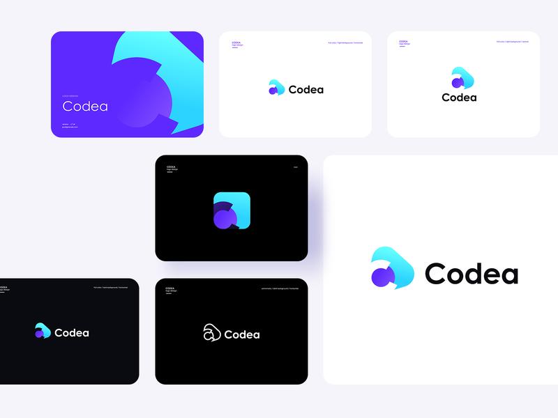 Codea branding ui icon vector design logo