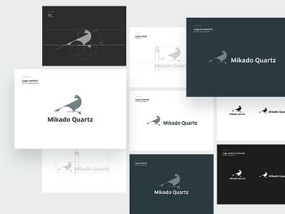 Mikado Quartz Logo (v1) lettering animal typography tonik vector branding ui icon design illustration logo