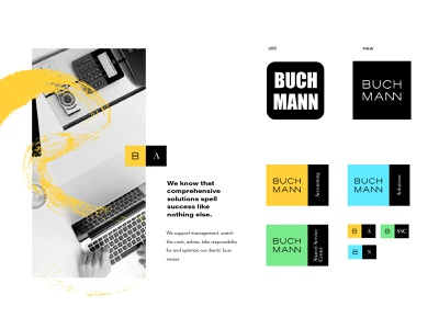 Buchmann- CI redesign branding id typography ui icon lettering vector design logo