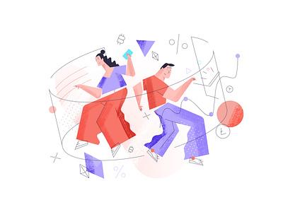 Illustration for www.spend.com/lend/ mase ui vector design illustration