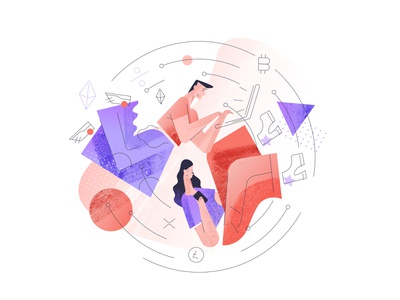 Illustration 2 for www.spend.com/lend/ vectors designs web ux ui vector design illustration