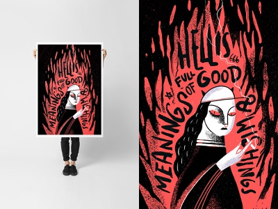 🔥HELL GIRL🔥 illustrations poster a day poster design poster vector design illustration