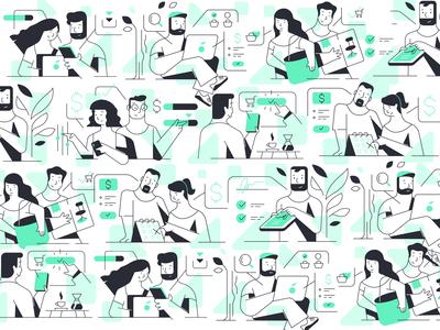 Kafene Illustrations Set