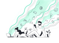 Kafene Hero Illustrations
