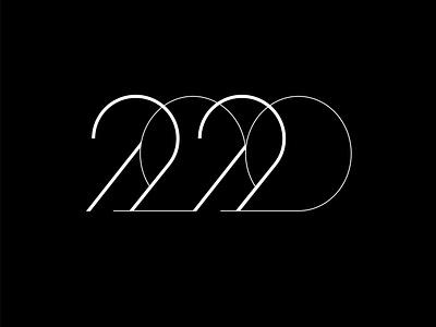 2020 logo typography lettering vector design illustration