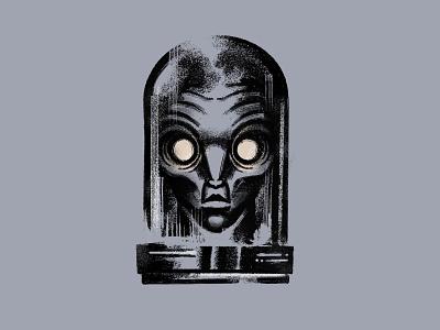 Alien procerate art tattoo design illustration