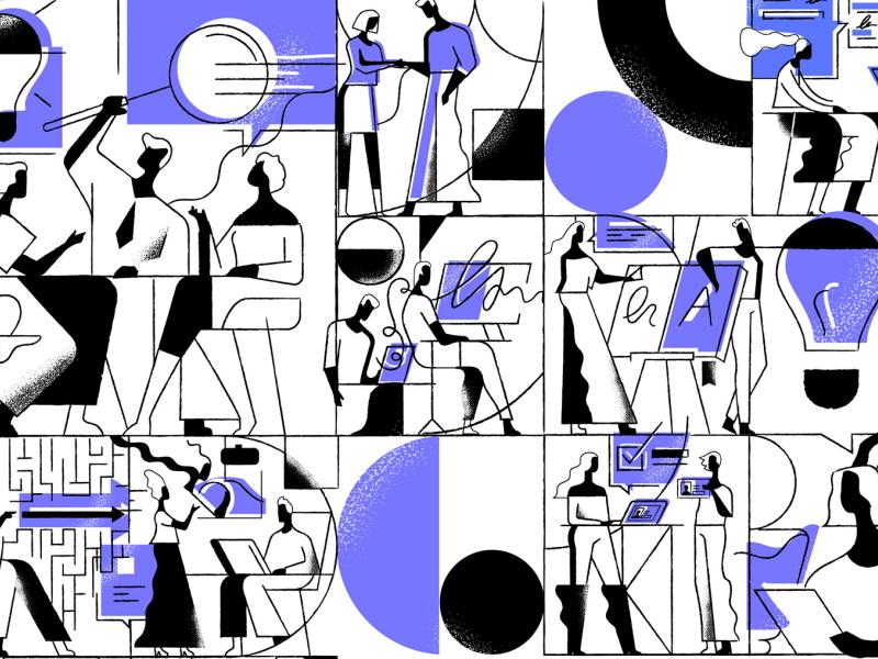 The 'Coalition Builder' Illustrations Set vectors vectorart grain noise tonik illustration art illustrator vector design illustration
