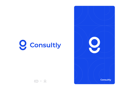 Consultly design blue client consult consultance consultly simple logo branding graphic design