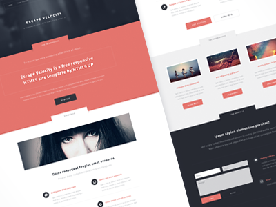 Escape Velocity web design theme site template freebie flat