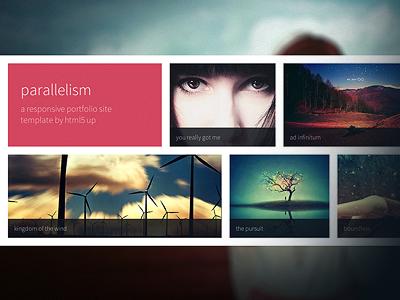 parallelism a free portfolio site template by aj dribbble dribbble