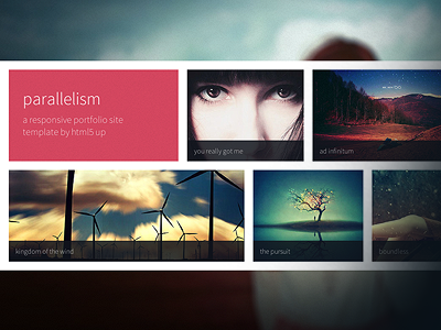 Parallelism - A Free Portfolio Site Template freebie site template web design web flat portfolio