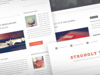 Strongly Typed web freebie template theme