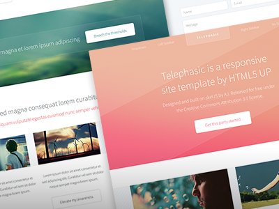 Telephasic web design web freebie