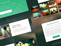Overflow web design freebie design flat