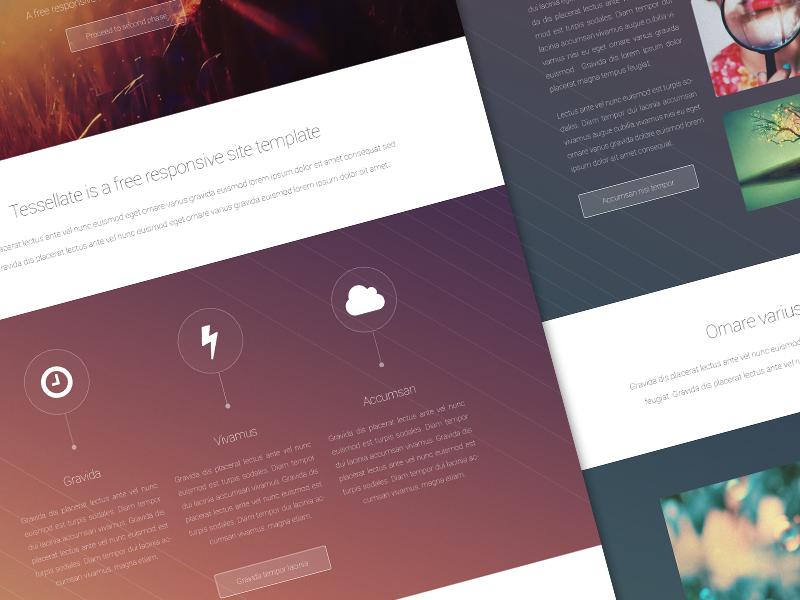 Tessellate web design ui flat freebie