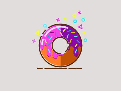 Donut 2 icon logo
