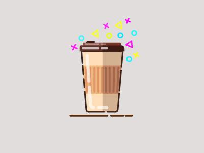 Takeaway Coffee Cup icon logo