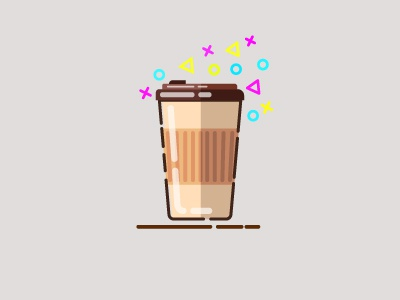 Takeaway Coffee Cup icon logo