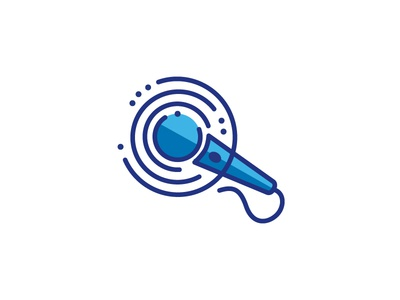Microphone Logo 01  Converted icon logo