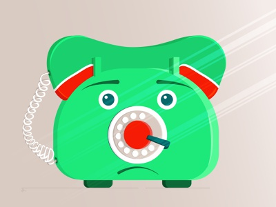 The Sad Phone caracterdesign vector illustration vectorart caracter design illustrations caracter design flat caracter illustration art illustration
