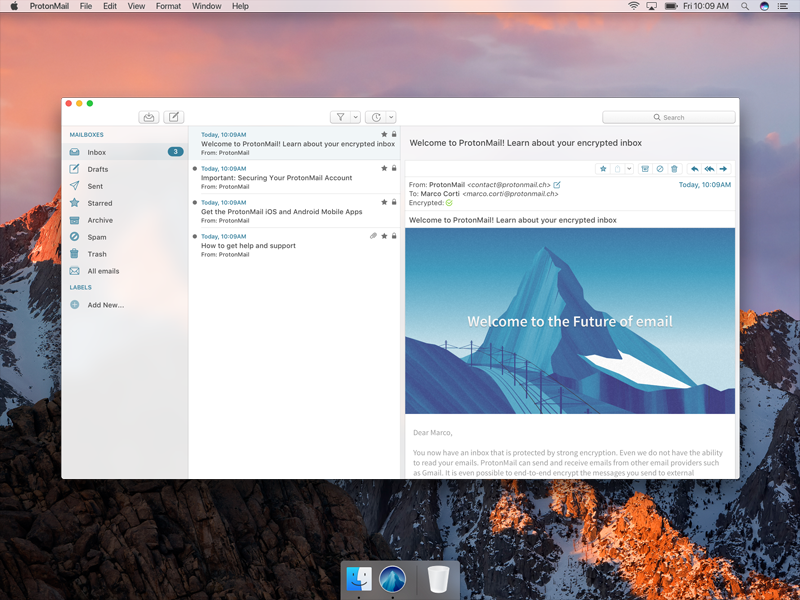 ProtonMail macOS App Concept matterhorn mountain icon app protonmail client email macos