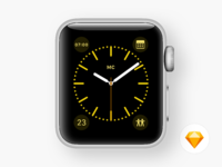 Watch faces color yellow