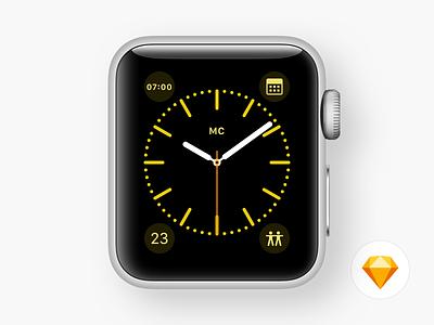 Apple Watch Faces - Color watch apple watch color sketchapp sketch freebie vector resource watch face