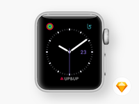 Watch faces utility purple