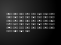 Sparkle touch bar icons large