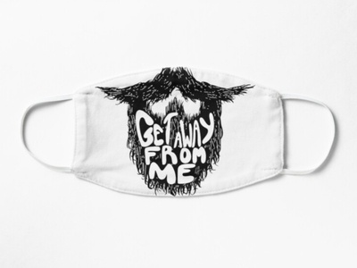 Saying this before it was cool. flat design illustration face hair me from away get scraggly white black sketch doodle hand drawn text beard