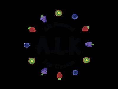 ALK All Natural ice Cream graphic design type lettering daily logo logo dailylogochallenge illustrator illustration branding design