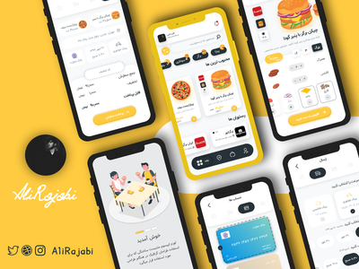Food Delivery App | اپلیکیشن سفارش غذا 2020 adobexd ui app mobile delivery app food