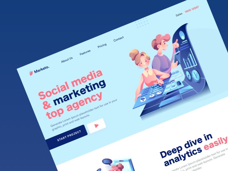 Landing Page Design Social Media illustration website design ux landing ui landing pages templates panding page ux landing page ui landing page design lander landing pages landing page