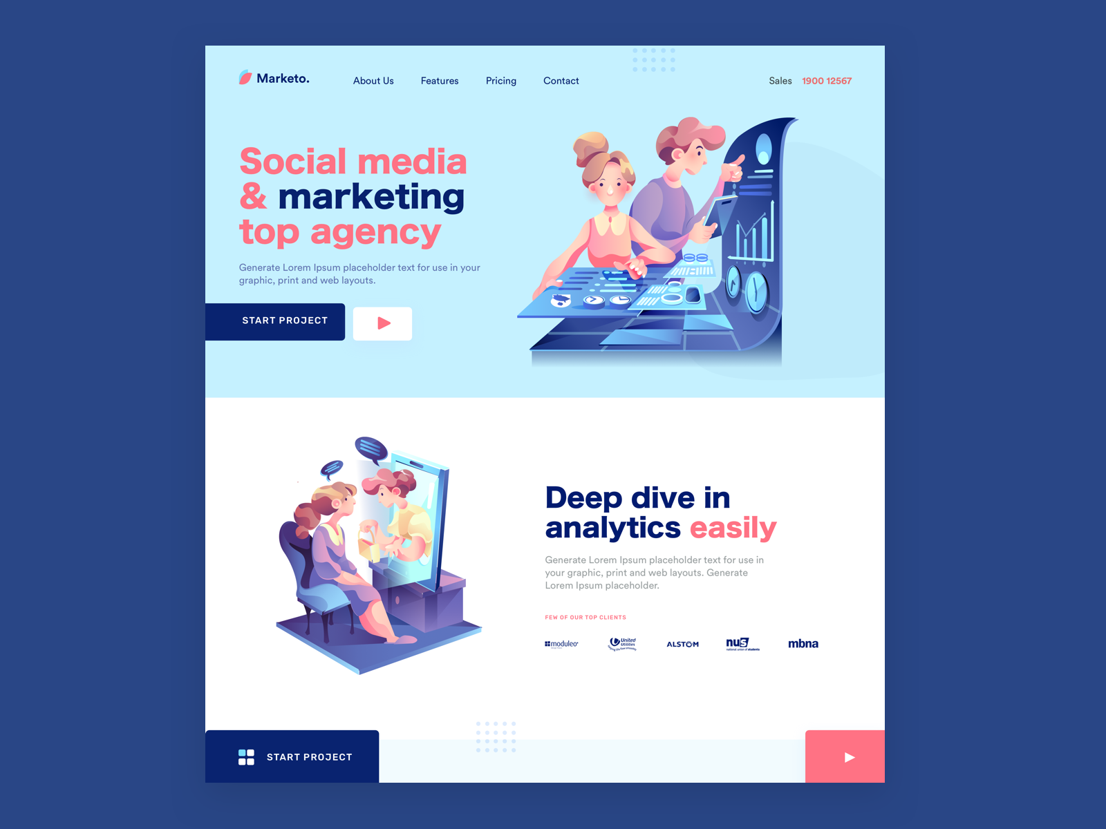 Landing Page Inspiration By Illustro On Dribbble