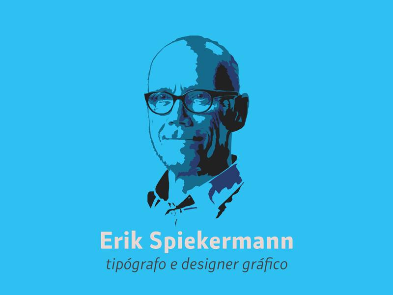 Erik Spiekermann typography typographer portrait illustrator illustration highcontrast graphicdesign german drawing designer design